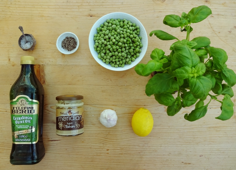 Pea and Basil Hummus(Ve)