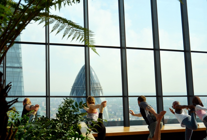 The Sky Garden + Sky High Yoga