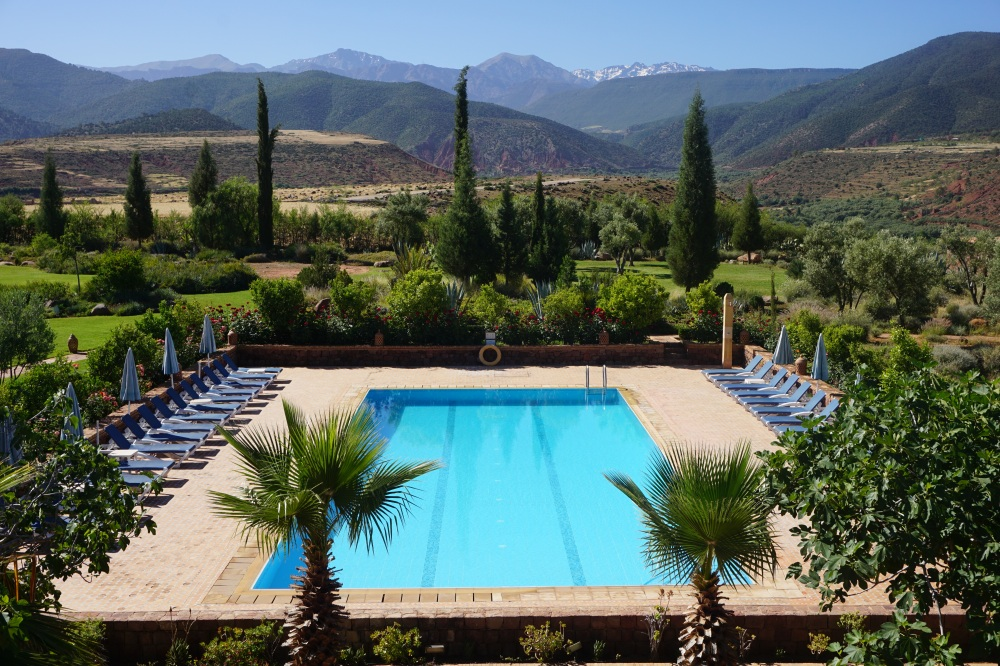 2. Swimming pool & mountains